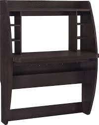 amazon com altra jace wall mounted desk espresso kitchen u0026 dining