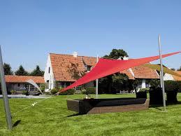13 Patio Umbrella by Luxury Umbrellas Ingenua 13 Foot Triangular Anodized Aluminum