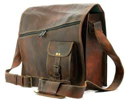 Handmade Leather Tote Bag - leather tote bag messenger bag handmade leather bag vintage goat