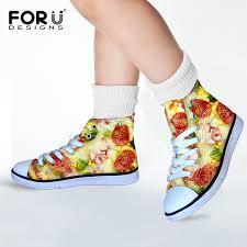 Comfortable Cute Walking Shoes Aliexpress Com Buy Pizza Funny Cute Girls Sweet Canvas Walking