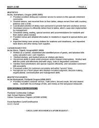 Resumer Sample by 10 Waitress Career Objective Examples Job And Resume Template
