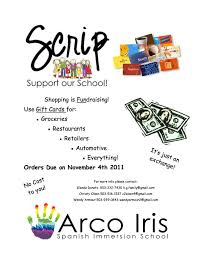 gift card fundraiser scrip beaverton s charter school