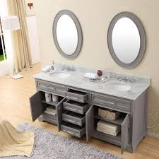 Bathroom Double Sink Vanity by Carenton 72 Inch Traditional Double Sink Bathroom Vanity Gray Finish