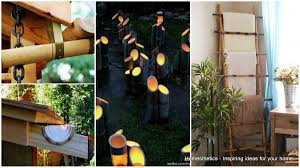 decorate your home with creative diy bamboo crafts homesthetics