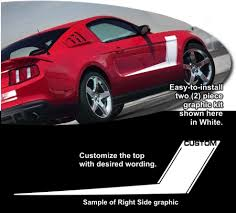 2012 ford mustang kits 2010 2012 ford mustang roush style side graphics kit 16