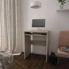 bureau contemporain simply bureau contemporain mélaminé décor sonoma l 60 cm