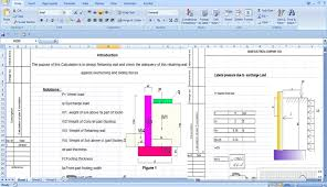 Retaining Wall Construction Retaining Wall Excel Spreadsheet - Design of a retaining wall