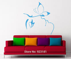 high quality girl beauty salon buy cheap lots beauty salon girl face with butterfly wall art stickers decals home decoration mural removable room