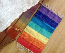 Decorative Kitchen Floor Mats by Aliexpress Com Buy 40x70cm Cotton Handmade Weave Rainbow Color
