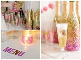 bridal shower favors diy diy glitter chagne bottle and flute favor couture the aspen