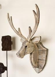 deer head recycled wood deer head wall hanging