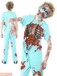 childrens zombie surgeon costume boys doctor halloween fancy dress