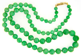 jade bead necklace images Green jade bead necklace jethro marles jpg