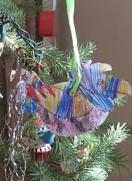 almost unschoolers tinsel bird ornament craft in