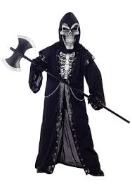 Salt Shaker Halloween Costume Crypt Master Kids Skeleton Costume Spooky