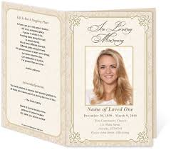 funeral program printing services edit print ready made program funeral program