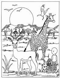 giraffe antelope coloring pages hellokids