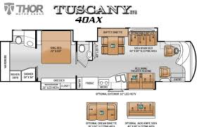 class a rv floor plans thor tuscany diesel pusher motorhomes for sale
