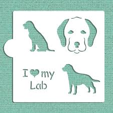 i my lab cookie and craft stencil