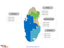 Uae Blank Map by Free Qatar Editable Map Free Powerpoint Templates