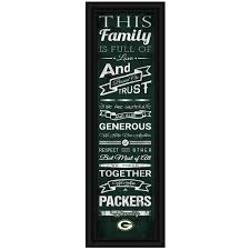 green bay packers family cheer print wall decor home u0026 office
