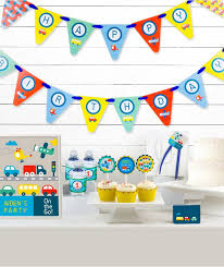 Personalized Party Decorations 41 Best On The Go Transportation Birthday Party Images On