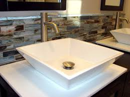 bathroom backsplash tile ideas glass tile backsplash in bathroom 4029