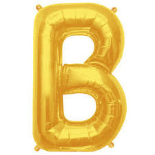 balloon letters letter b gold foil balloon shape b 34 the party bazaar
