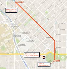 Amtrak Route Map Usa by Super Bowl Parade 2016 Map And Route For Denver Broncos Victory