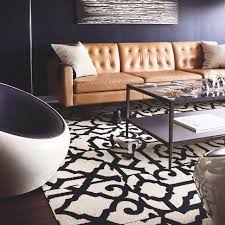 Modern Living Room Ideas With Brown Leather Sofa Lasting Greatness Modern Living Room Chicago By Flor