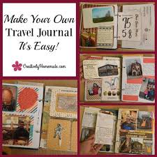Make your own travel journal scrapbook creatively homemade