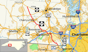 Charlotte Map North Carolina Highway 274 Wikipedia