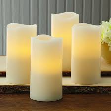 better homes and gardens flameless led pillar candles 4 pack