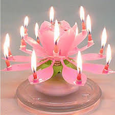 happy birthday candle happy birthday musical candle blooming lotus party light