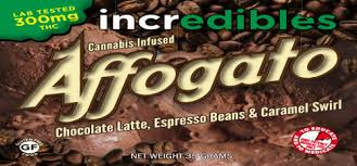 incredibles edibles chocolate affogato bar label wherijuana recommends colorado s