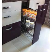 Pullouts For Kitchen Cabinets Single Pullout Kitchen Cabinet Trolley S K Industries Vasai