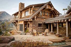 17 delightful stone and wood houses house plans 4098