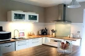 cuisine blanc laqué et bois idee cuisine deco deco cuisine noir et blanc idee deco pour cuisine