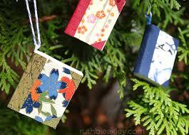 sneak peek tiny handmade book tree ornaments ruth