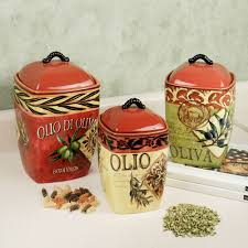 Italian Canisters Kitchen by Tuscan Canister Fabulous Graceful Glass Kitchen Canister Sets For