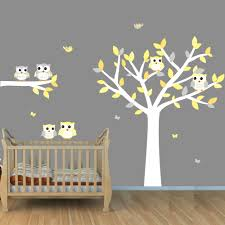 Owl Wall Decals Nursery by Owl Tree Wall Decals White Tree Wall Stickers With Owls And Birds