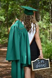 green cap and gown cap gown pictures i m done sign show cap