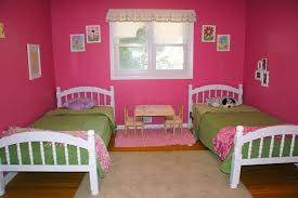 Teenage Bedroom Wall Colors - teens room chic shared teens girls bedroom design ideas with