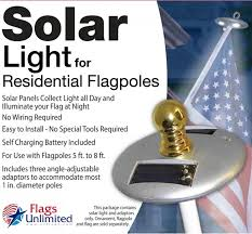Flag Pole Lights Solar Powered Solar Powered Flagpole Light From Flags Unlimited