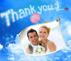 make a personalized thank you photo card for free