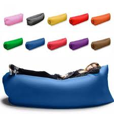 Patio Cushion Storage Bags Inflatable Lounger Air Sofa Chair With U Shape Neck Pillow And