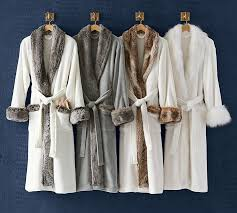 faux fur robe without hood ivory caramel pottery barn