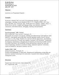 Resume Sample For Programmer by Programmer Engineer Resume Template Programming Resumes