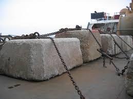 bouy blocks on deck concrete buoy sinkers