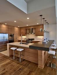 modern kitchen decorating ideas with enchanting wooden paneling